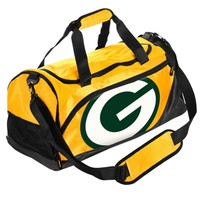 Green Bay Packers Small Locker Room Duffle Bag - Green/Gold