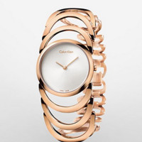 calvin klein body pvd rose gold bracelet watch | Calvin Klein