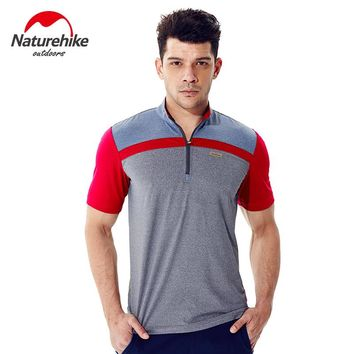 Naturehike Hiking T-shirts quick dry shirts camping hiking sportswear men breathable outdoor tops sports running clothing