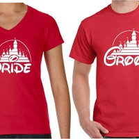 Bride and Groom Matching Couples T Shirts | Our T Shirt Shack