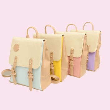 Vintage Candy Color Backpacks