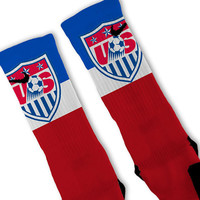 USA Soccer World Cup Customized Nike Elite Socks - Fast Shipping!!