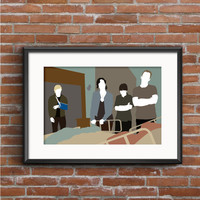Weeds Poster - Silas Botwin Nancy Botwin Shane Botwin & Andy Botwin Poster - Weeds Print - TV Poster - Geek Gift - Weed Art