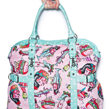 Iron Fist Death's Diner Overnight Bag Light Pink One