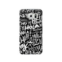 P2744 Hey Hi Hello Pattern Phone Case For Samsung Galaxy S6 edge