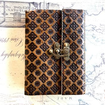 Pattern Embossed Latch Journal