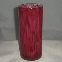 Stunning Pink vase by Maltese glassmaker Mtarfa. Signed pink cased glass vase in Mtarfa's Cobra style. Signed