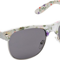 Glassy Shredder White/Floral Sunglasses