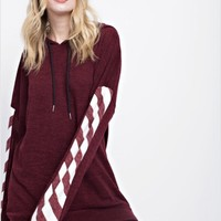 12PM by Mon Ami Hooded Top with Striped Arms