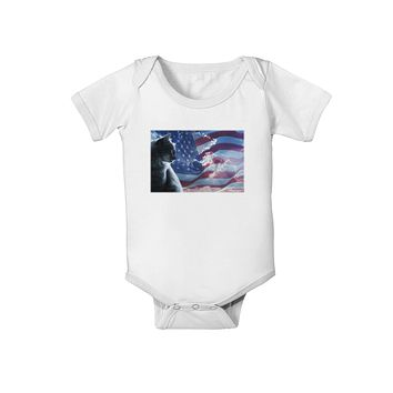 All American Cat Baby Romper Bodysuit by TooLoud