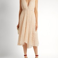 Eudora V-neck star-embroidered tulle dress | Maria Lucia Hohan | MATCHESFASHION.COM US