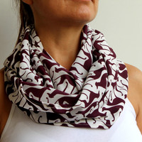 Dog Printed Rosewood Scarf Infinity Scarf Urban Scarf Cotton Loop Scarf Solid Scarf Circle Scarf