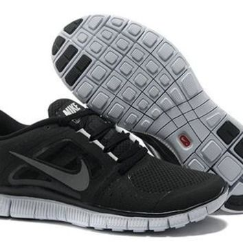 Running Shoes Black/Grey Women's Nike Free Run+ 3