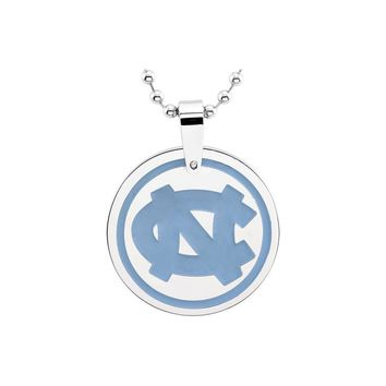 Stainless Steel UNC Tar Heels Medallion Necklace
