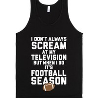 Football Season-Unisex Black Tank