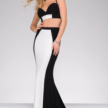 Jovani - 47957 Two-Piece Fitted Two-Tone Gown