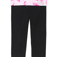 Bling Yoga Crop Legging - PINK - Victoria's Secret