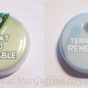 Crystal Gems Pearl Ruby Sapphire Peridot Jasper Steven Universe Affirmation Buttons