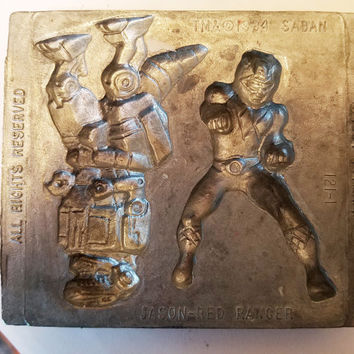 red power ranger metal mold jason polymer clay molds action figure super hero mould vintage 1994 toy max