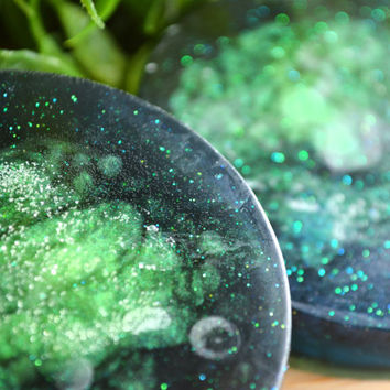 Northern Lights, Galaxy Soap, Handmade Glycerin Soap, Aurora, Sky, Night, Stars, Glitter, Galactic, Cosmos, Space, 2.5 oz, Artisan Soap