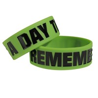 A Day To Remember A Day To Remember Logo Green Bracelet
