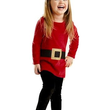 Mud Pie-Glitter Santa Tunic-Legging Set, Multi