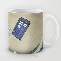 The Great Wave Doctor Who Mug by Dan Lebrun