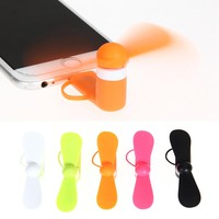 2 in 1 Portable Cell Phone Mini Electric Fan USB Cooling Cooler Fan For iPhone Samsung for Android Phone