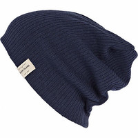 Blue rib label trim beanie hat  - hats - accessories - men