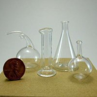 Miniature Chemistry Set Hand Blown Glass by kivaford on Etsy