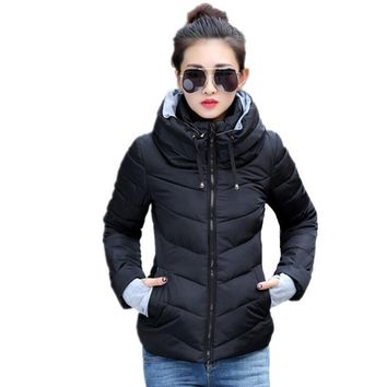New women long sleeve warm light down padded jacket women parkas for women coat fashion jacket