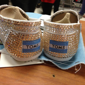 Customized Rhinestone Toms by loavesofbread on Etsy