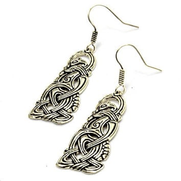Earrings with dragon motiv in Viking style - [07 OR 6 WikDra/G1 A-3]