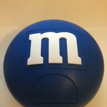 M&M's World Candy Blue Round Dispenser New with Tags