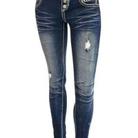 ALMOST FAMOUS STUDDED SKINNY JEANS
