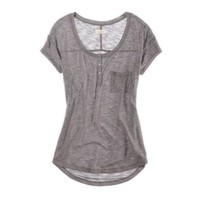 Aerie Short Sleeve Henley | Aerie for American Eagle