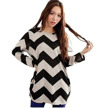 Chevron Print Long Sleeve Shirt