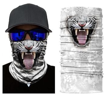 BJMOTO 3D Motorcycle Face Shield Sun Mask Balaclava Amazing Outdoor Face Mask Seamless Bandana Scarves