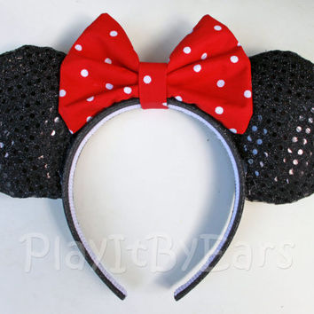 "Handmade ""Classic Minnie"" Custom Mouse Ears inspired by Disney"
