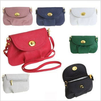 Hot Sale Mini Women Shoulder bags Candy color women Leather Bag Women's CrossBody Bags Wallets Purse Bolsas Day Clutches = 1958172932