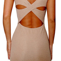 Allured By (Dusty Peach)-Great Glam is the web's best online shop for trendy club styles, fashionable party dresses and dress wear, super hot clubbing clothing, stylish going out shirts, partying clothes, super cute and sexy club fashions, halter and tube