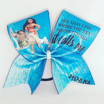 Moana Cheer Bow