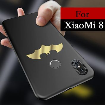 Batman Dark Knight gift Christmas Luxury Batman Phone Case For Xiaomi Mi 8 Coque Thin Protection PC Hard Back Cover For Xiaomi Mi 8 Mi8 Xiaomi Fundas 6.12 inch AT_71_6