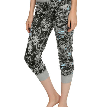 4SW REVERSIBLE GIRLS PAJAMA PNTS