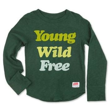 Young Wild Free Long Sleeve Boy's Tee