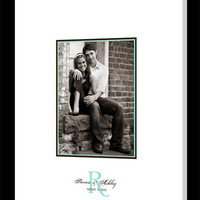 Wedding Guest Book Canvas with Photo