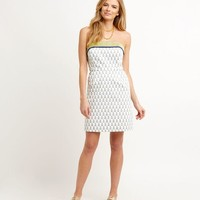 Sailboat Print Strapless Dress