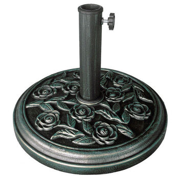 New Clevr 17.5'' Umbrella Base Stand Rose Patio Yard Outdoor Living Heavy Duty