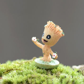 Animie Tree fairy Micro landscape garden artificial statuette miniatures/terrarium decoration toys figurines DIY accessories