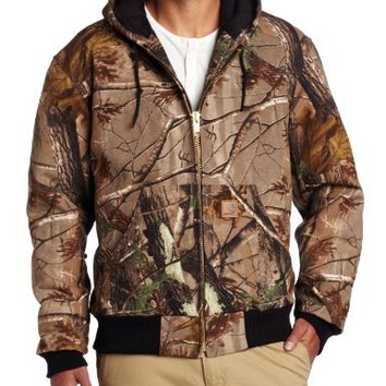 Carhartt Men's Quilted Flannel Lined Camo Active Jacket